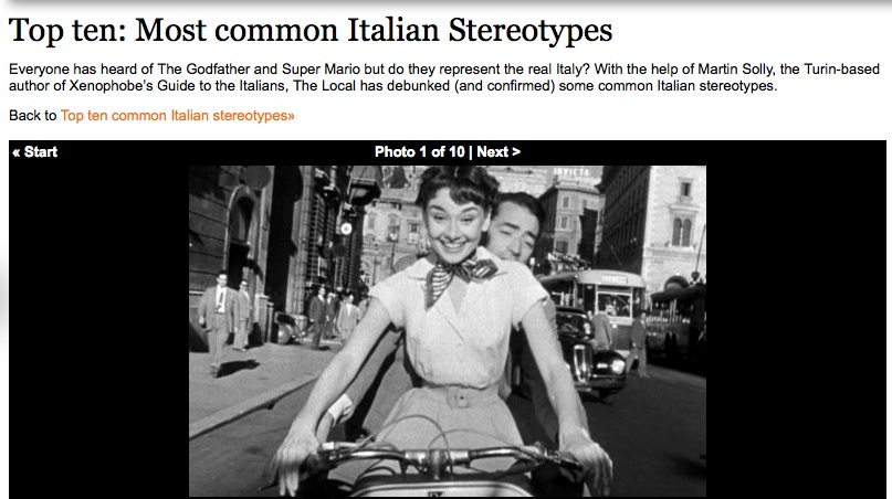 a discussion of the stereotypes related to italians On a more italy-related angle, i also wish candidate trump had  negative  stereotyping of italian americans has by no means disappeared.